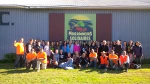 Groupe participant aux Récoltes communautaires 2014
